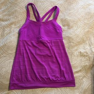 Athleta Criss Cross Workout Tank Purple L